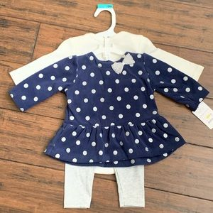 3pc navy & cream set from Carter's size 3M BNWT
